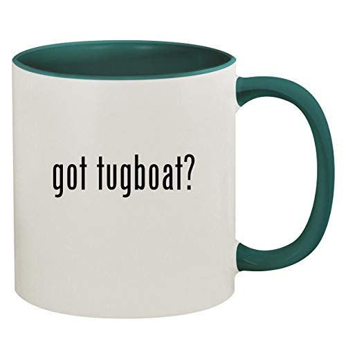 got tugboat? - 11oz Ceramic Colored Inside & Handle Coffee Mug, Green