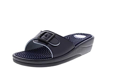 Scholl Chanclas de Playa New Massage Azul 39