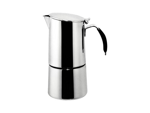 """Ilsa: Coffee Maker """"Omnia Express"""" For Induction - Inox 18/10 4-Cup [ Italian Import ]"""