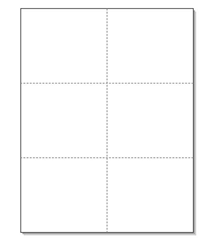 Laser Printer Blank Perforated Cards 6 up per Page, for School Registration Cards, Flower Delivery Cards, Inventory Tags, Wedding Response Cards, RSVP Cards, Trip Tickets, ETC. (300 White Cards)