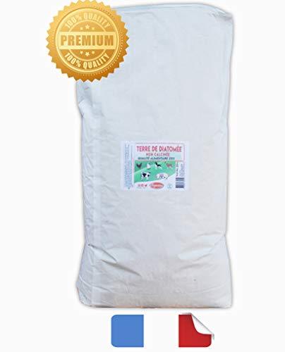 Vozanimo Terre de Diatomée Blanche 20 Kg Non calcinée/Alimentaire E551-100% Naturelle- Garantie sans additifs Idéale Contre Les puces, tiques, poux Rouges, punaises de lit, etc.
