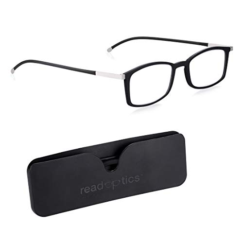 Anti Blue Light Reading Glasses 2.5 Men/Women: Read Optics Ready Readers Magnifying Spectacles with Blue, Glare & UV Filter Computer use Lightweight Difuzer Lens in Ultra Thin 6mm Flat Pocket Case