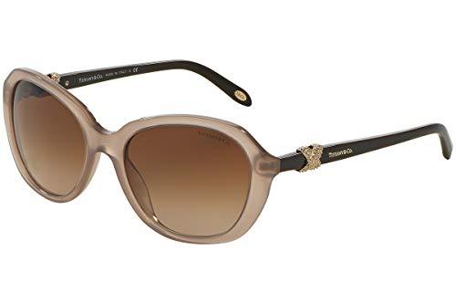 Tiffany & Co. Unisex TF4108B Sonnenbrille, Braun (Brown 81963B), One size (Herstellergröße: 55)
