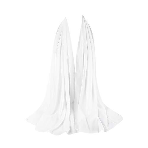 ZEELIY Muslim Hijab Frau Frauen Plain Bubble Chiffon Schal Chiffon Schal Hijab Wrap Printe Schals Stirnband Muslim Hijabs