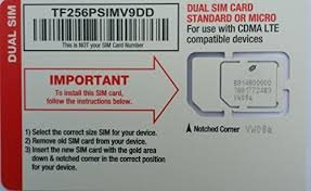 Straight Talk Verizon 4G LTE Compatible Mini/Micro SIM Card. Fits most Verizon LTE including Galaxy S3,S4,S5, Note 2,3,4