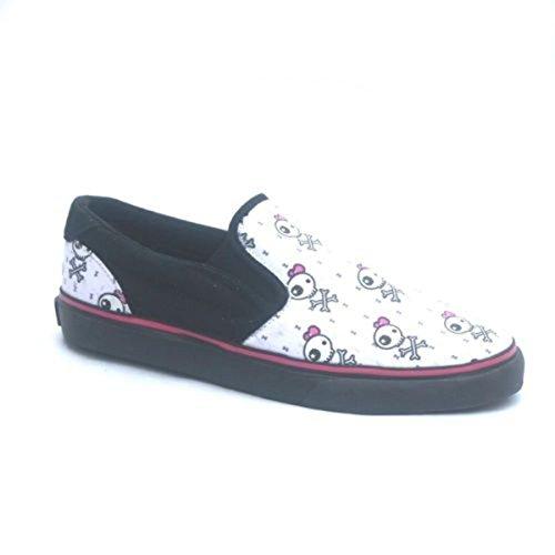 Osiris Skateboard Schuhe/Slip Ons Scoop Girls Kids Black/Becky Bones - Slipper Slip On, Schuhgrösse:33