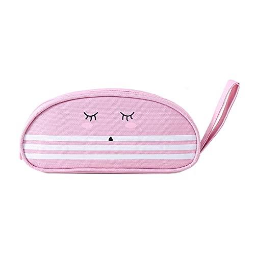WUYUANKEI Creative Lindo Expresión Linda Bolsa de papelería de Gran Capacidad Cartoon Pencil Case Cat