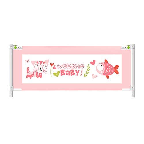 CYLQ Extra lange baby veiligheidsrooster kinderbed lift verticaal verstelbaar slaapbedden voor kleine kinderen, geschikt voor tweelingen, matras compleet en queen size, roze