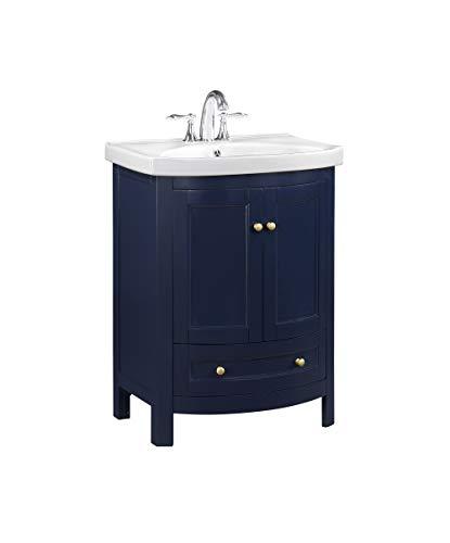 RunFine RFVA0069B bathroom vanity with top and sink, dark blue