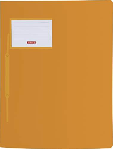 Brunnen 102015040 Schnellhefter FACT!pp (A4, aus transluzentem PP, mit Namensschild, mit Einstecktasche innen) Orange