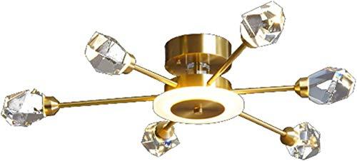 YQDSY Lámparas de Techo de Latón de Oro Lámparas de Techo, Cristal Moderno Sputnik Rama Colgante Luz Luz Mediol Led Lámpara de Araña Colgante de Iluminación para Sala de Estar Dormi