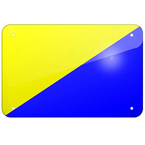 SIGNCHAT Metalen bord Gran Canaria (Spanje) Vlag metalen blik bord 8x12 inch