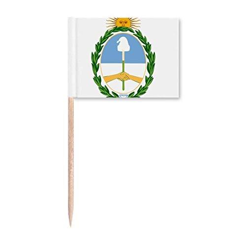 Buenos Aires Argentinien Nationalemblem Zahnstocher Flaggen Marker Topper Party Dekoration
