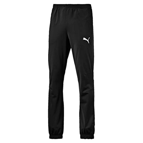 PUMA Herren Hose Tricot Pants, Black-White, M, 653974 03