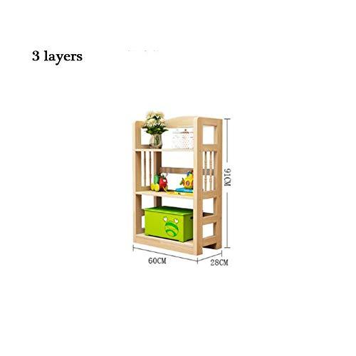 CHERCAND massief hout boekenplank Combinatie Pinebookcase vloer staande boek opslag plank moderne multi-layer houten frame voor boeken Video Games Cds
