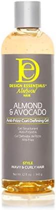 Design Essentials Natural Almond Avocado Anti frizz Curl Defining Gel 12 Fl Oz product image
