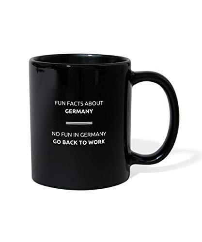 Fun Facts About Germany Lustiger Spruch Tasse einfarbig, Schwarz