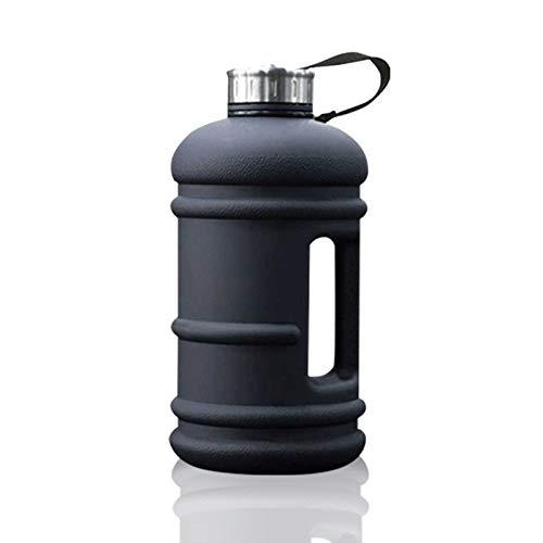 2.2 litros Botella de agua deportiva grande con tapa de bebida y mango de transporte, a prueba de fugas libres de BPA, ideal para gimnasio Dieting Bodybuilding Deportes al aire libre Oficina de sender