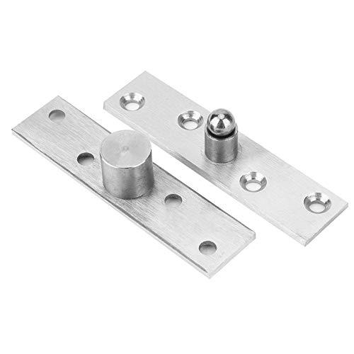 2 Pack 360 graden rotatie deurscharnieren, roestvrij staal verborgen scharnieren 100x24mm met omhoog omlaag as voor deur raamkast (Neutrale as)