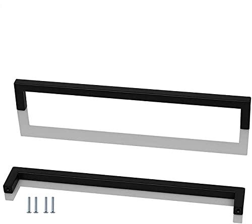 ANSIEDIO 2 Piezas Acero Inoxidable Tiradores Cocina Negro Tiradores de Muebles Tiradores de Puerta Perillas de Muebles Tiradores Armarios 320 mm