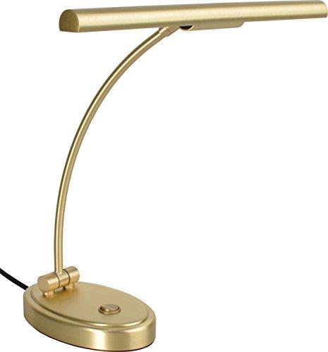 Jahn Halogen Klavierlampe Menuett in Messing matt Made in Germany