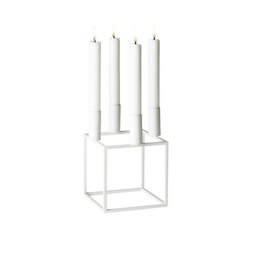 By Lassen Kerzenständer, Metall, Weiß, 14 x 14 cm, h 20 cm