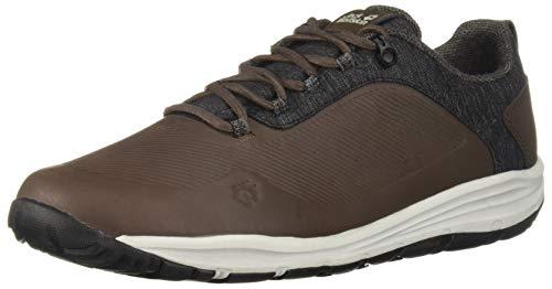 Jack Wolfskin Herren Seven Wonders WT Low M Men's Casual Comfort Shoe Turnschuh, Onyxbraun, 45 EU