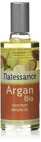 Natessance - Huile d'Argan Bio Equitable - 100% Pure, Sans Additif - Huile de Première Pression à Froid - Nourrit, Hydrate et Adoucit - Anti-Rides - Anti-Oxydant Naturel - Flacon 50 ml
