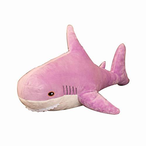 Cuscino Abbraccio XYBB Giocattoli di squalo da bambole di peluche Cuscino di squalo morbido Giocattoli di peluche Cuscino avvolgente multicolore Regalo per bambini Viola chiaro