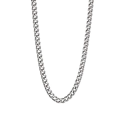 SeniorMar-UK Gargantilla de candado de Alta Resistencia Collar de Metal Collar de Hierro Cadena Unisex Hip-Hop Punk Collar de Alambre de púas para Hombres Mujeres Plateado