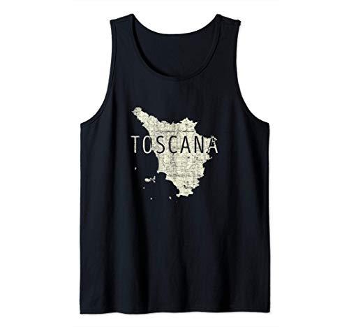 Mappa Toscana Word Art - Souvenir Toscana Italia Canotta