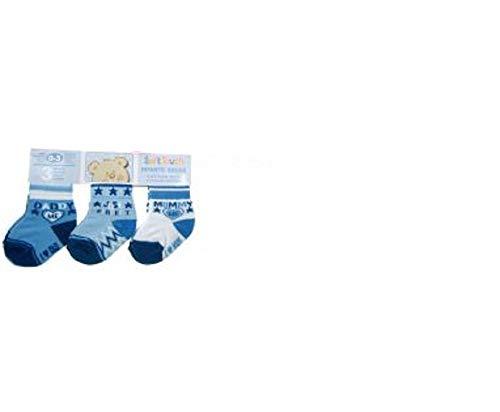 3er Paquet Soft Touch Bébé Chaussettes Socquettes Jeune Fille Coton Neuf - Bleu, 6-12 Monate