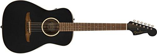 Fender Malibu Special - Guitarra acústica de la serie California - negro mate con bolsa de concierto