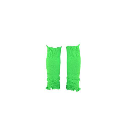 adam und eesa Mädchen Beinwärmer/Stulpen in Neon-Farben, 1 Paar (Neon-grün)