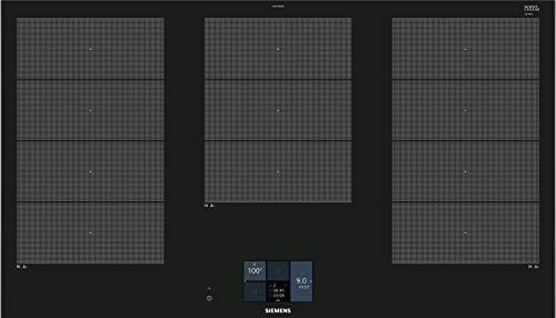 Siemens EX975KXW1E hobs Negro Integrado Con - Placa (Negro, Integrado, Con placa de inducción, Vidrio y cerámica, 2600 W, Rectangular)
