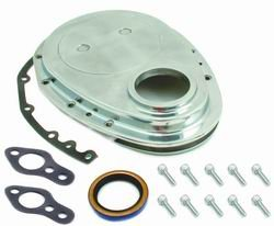 Spectre Performance 4935 Timing Chain Cover for Small Block Chevy, Aluminum
