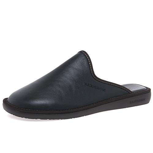 Nordikas Norwood III Zapatillas De Cuero para Hombre 9/43 Negro