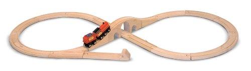 HolzeisenbahnmitZugundWaggon