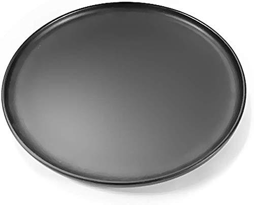 MYPNB Bowl Küchenutensilien Rundteller Black Besteckkasten Western Restaurant Steak-Platte Schöne Platte Frühstück Mittagessen Teller Japanische Keramik-Teller Kochplatte