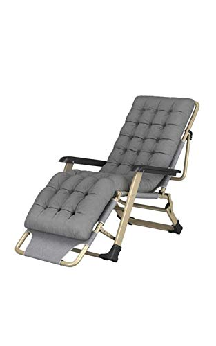 GQFGYYL-QD Folding Reclining, with Head Pillow and Cotton Cushion Zero Gravity Lounge Chair, for Garden Outdoor Patio Adjustable Sun Loungers