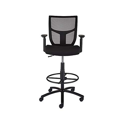 Staples 2262751 Cabal Mesh and Fabric Stool Black