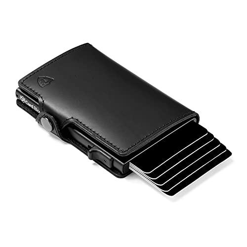 Card Blocr Secure Credit Card Wallet, Credit Card Holder, RFID Wallet, Minimalist Card Holder, Leather Wallet, Black - Conceal Plus