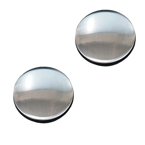 LiXiongBao 2 Pack Sink Tap Faucet Hole Cover Kitchen Sink Plug Brushed Stainless Steel Hole Cover for Dia 1.22 to 1.57 Inch (Short)