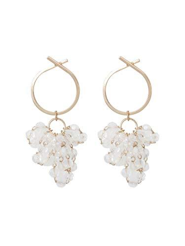 Women's long earrings Grape bunch circle temperament girl earrings 925 sterling silver earrings beautiful package Can be used as a gift