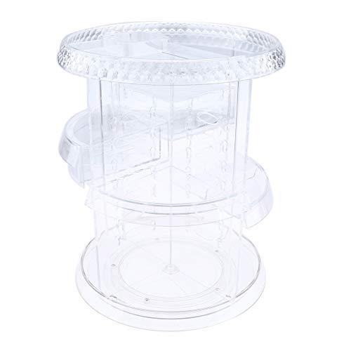 MagiDeal Großer Make Up Display Organizer, Um 360 ° Drehbarer, Verstellbarer Stauraum Für Kosmetikartikel, Toilettenartikel Und Mehr - A