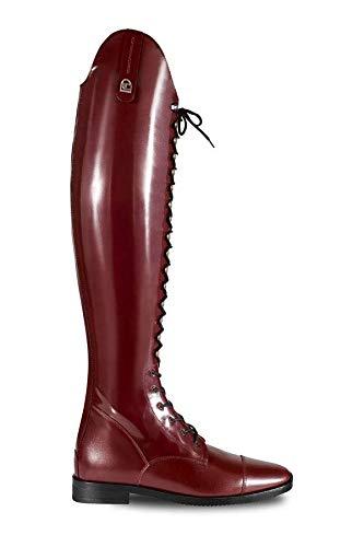 Cavallo Reitstiefel Primus Lux Slim Oxblood Dressurstiefel mit Schnürung, Schuhgröße:5 H49 W36