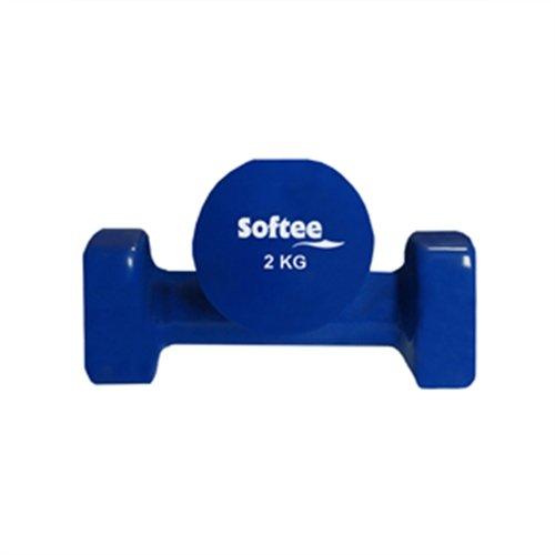 Deportium 0024104 Juego Pesas Vinilo, 2 kg, Unisex Adulto, Azul Marino/Blanco