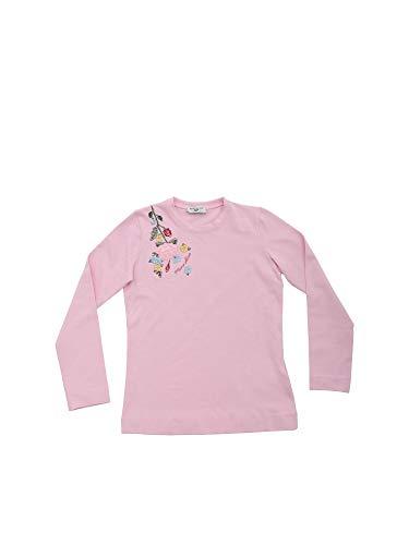 MONNALISA T-Shirt Rosa Bambina Ricamo Tralcio 194604R64048