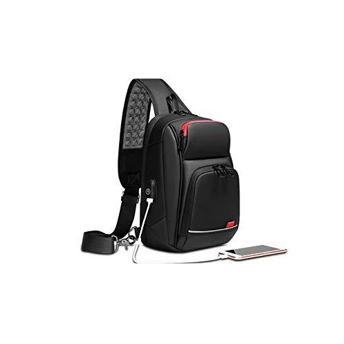 hgfds Smart Shoulder Bag, Relieve Shoulder Pressure Men Cross Body Shoulder Bag,Waterproof shoulder Bag With USB