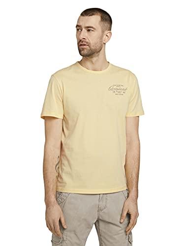 TOM TAILOR Herren 1025980 Basic T-Shirt, 22564-Pale Straw Yellow, 3XL